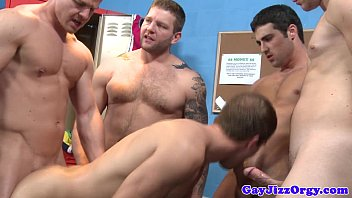 Gay orgy climax