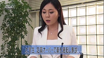 The naked news video - Asian news reader fingered while on cam