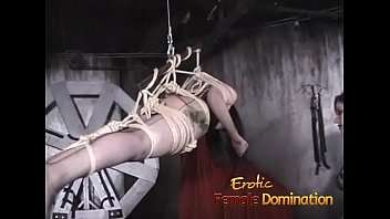 Bdsm females in suspension - Tied up suspended slave dominated by her kinky redhead friend