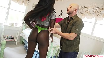 Ebony babe assfucked by a white guy