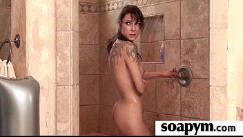 Soapy Massage End With a Big Cumshot 3