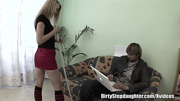 Slender Blonde Teen Pussy Pound By Stepdad