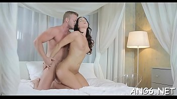 Hungry chap is tasting babes agreeable shaved pussy