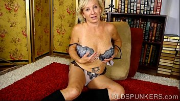 Hot naughty milf and granny videos - Naughty old spunker frigs her soaking wet pussy for you