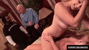 A Housewife Has Lesbian Sex with a Porn Slut as Her Husband Watches