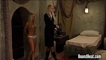 Lesbian Mistress Undressed And Kissed By Young Slave  #6572