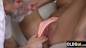 Horny blonde loves to lick sugar daddy'_s fat dick -Jenny Smart