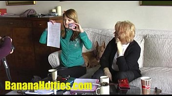 Teen Vendula comes to her 1st casting EVER with her MOM! thumbnail