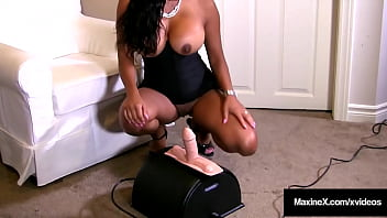 CoverSybian Straddles! Asian Cougar Maxine X Rides Sybian & Sucks A Dick!