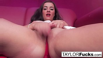 Nurse Taylor plays with her big boobs