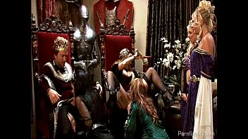 The big boob king - King and queen have a medieval orgy with four hot whores