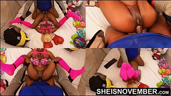 Missionary Hardcore Sex Fucking Sexy Black Babe Pussy Closeup POV Big Titties Held, Msnovember Intense Fuck By Old BBC Pushing Her Tiny Legs Up With Multi View Dominating Her Little Body 4k Sheisnovember