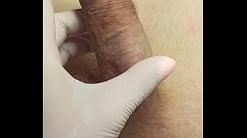 Video Tutorial On What To Do For A Depilation Master With Spontaneous Ejaculation While Trimming. SugarNadya Show That The Penis Must Be Held Tight And Not Released Until The Very Last Spray