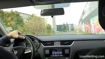 Bursting To Pee In Car, Pretty Lady Is Seen Peeing By Some Teenagers thumbnail