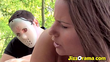 JizzOrama - Brunette Hunted In the Forest and Anal Tricked By A Masked Man