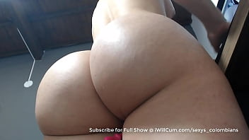 Huge Round Perfect Shaped Bubble Butt Loves to Cum