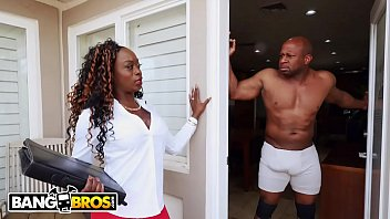 BANGBROS - Vickie Starxxx Bounces Her Black Big Ass On Prince Yahshua'_s BBC