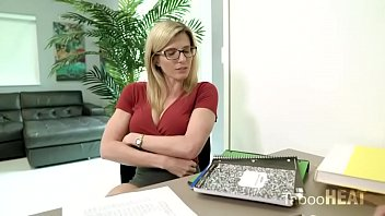 Cory Chase In Stepmom Helps Her Son Study For A Test