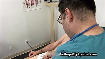 Aaron gets his nice college cock examined 2