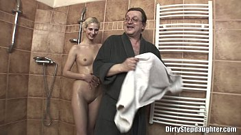 Lewd Stepdad Fu cking His Skinny Blonde Stepda y Blonde Stepdaughter