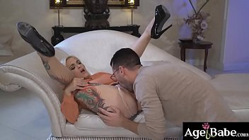 Mature Mary let John have a taste of her vintage cock
