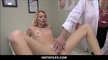 Hot Blonde MILF Doctor With Big Tits Seduces And Fucks Her y. Patient