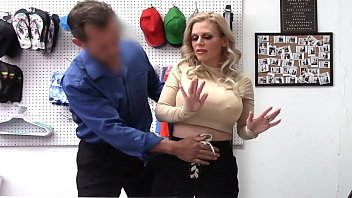 Casca Akashova Hides Shoplifted Necklace in Her Bra, Caught and Fucked