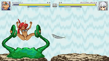 Lizard girl vs Slime