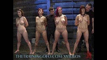 Slave training bondage videos free clips Four slaves get trained