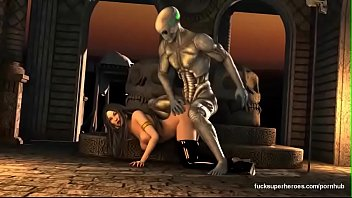 Alien pussy pic - 3d big boobs wet pussy fucked by big cock alien