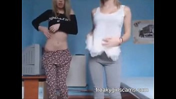 two teen undressing for the cam - freakygirlscams.com