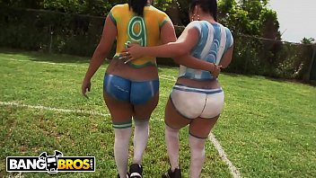 BANGBROS - Sexy Latina Pornstars With Big Asses Play Soccer And Get Fucked Preview