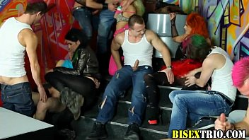 Bisex rave party with bj