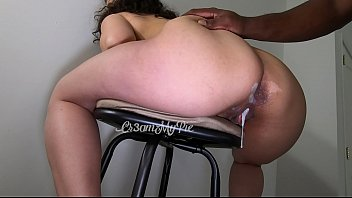 Fun time with my bar stool. Look at my waterfall creampie! It's so thick! porno izle
