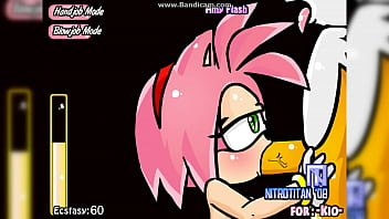 Amy give Tails a Hand and Blowjob
