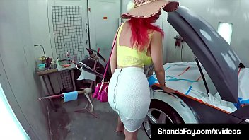Sex Craved Canadian Cougar Shanda Fay spreads her mature muff for a good old fashioned pussy fucking in a paint & body shop! Full Video & Shanda Fay Live @ ShandaFay.com!