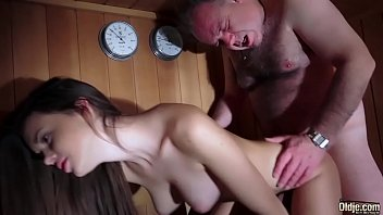 Dad Fucked Beautiful Virgin Young Pussy Gives Blowjob and Swallows the Cum