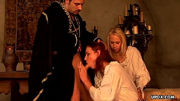 Medieval maid C arla Cox had a threesome the o threesome the other day