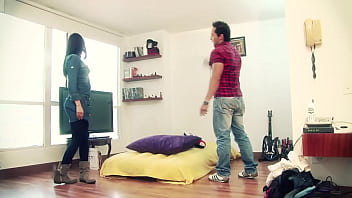 Colombian student fucks the owner of the apartment where she lives in Bogota