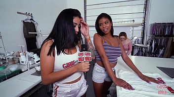 GIRLS GONE WILD - Young Black Babe With Nice Big Tits, Nia Nacci, Playing With Her Pussy