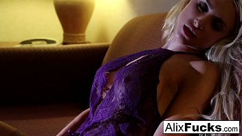 Hotel slut Alix gets herself all hot and bothered!
