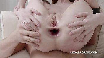 Lotty madona xxx - Busted dp lottie magne first time dp with balls deep anal, big gapes, rough sex and cum in mouth gl140