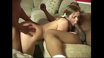 Pigtailed Chubby Petite BBC Threesome
