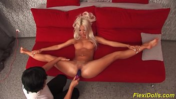 real flexi doll  stretched and toyed toyed