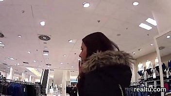 Stunning czech teen is seduced in the mall and drilled in pov