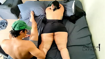 My stepmom asks me for a massage and pays me with her big ass