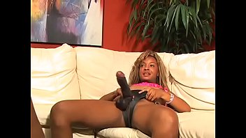 Busty ebony babes tease each other with their favorites fuck toys