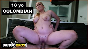 BANGBROS - Latina Babe Ariel Bolivar's Pussy Tattoo Reads: MY DADDY WILL KILL YOU