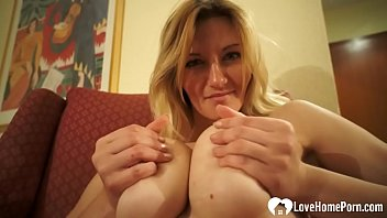 Busty chick shows off her solo masturbating skills