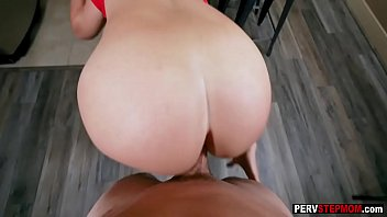 Stepmom shows stepson what she knows and he liked it
